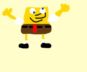Spongebob uses magic to make people not poop