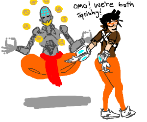 Zenyatta is squishy (overwatch)