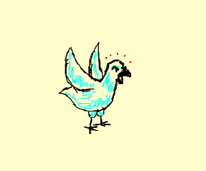 "frustrated ""blue"" bird"