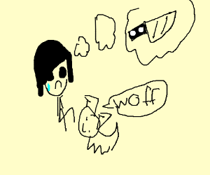 Emo Kid wishes to have a knifeThenDog gives it