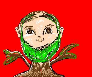 Comb-over guy has Tree-Beard