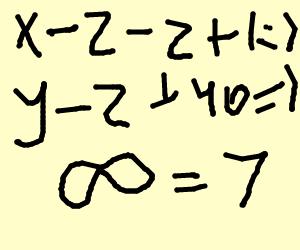 Complex equations always equal seven