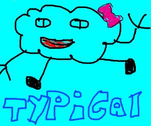tipical cloud pose