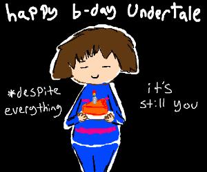 Sad birthday for undertale