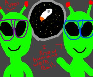 Alien Nerds Believe in Humans.