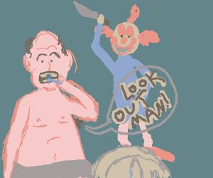 Man's armpit warns him of dark clown attack