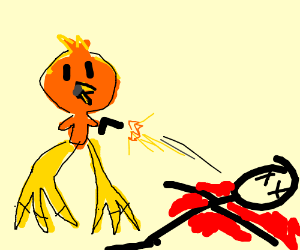 Torchic with giant feet killed a man.