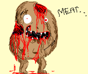 Zombie potato loves meat