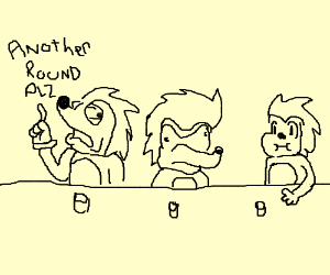 Three Sonics walk into a bar...