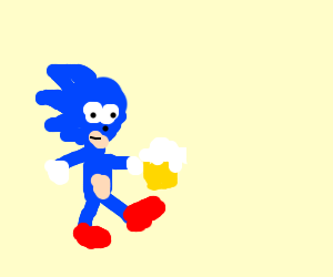 sanic with a hangover