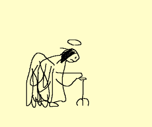 A limp angel