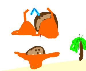 Coconut in bikini
