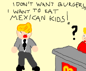donald trump is a kid eater!