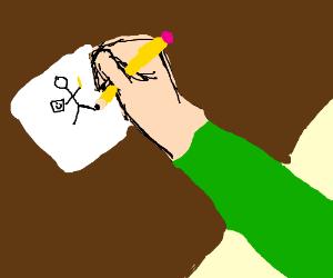 drawing a drawing man