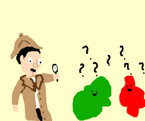 A red and green mystery