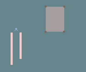 Pinky Sticks afraid of paper