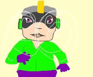 Megaman from Captain N on LSD