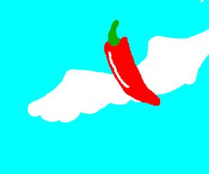 Fly away, chili!
