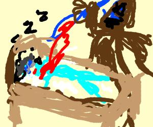 executioner executes sleeping guy