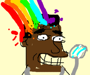 puke rainbows on a doctor