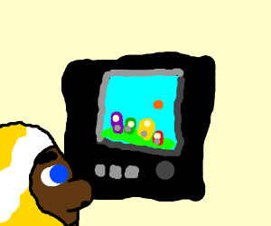 black kid in gold watches tv