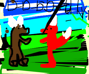Ox and Fox d-d-d-d-d-d-d-ueeelllll