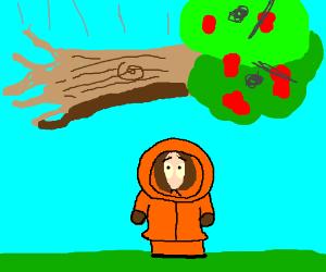 Angry tree trying to kill Kenny! That bastard!