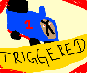 Thomas the tank engine goes TRIGGERED