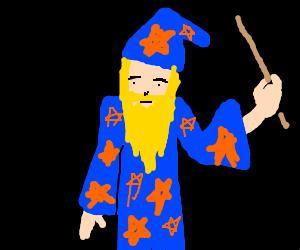 Bearded blond wizard