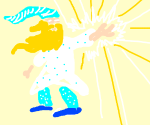 the flashing magician