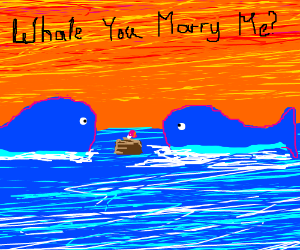 Whale you marry me