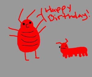 Bug says happy birthday
