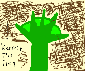 kermit's webbed hands