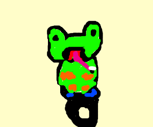 Gheddo frog rockin' a unicycle