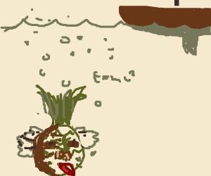 Albert Einstein's pineapple under the sea