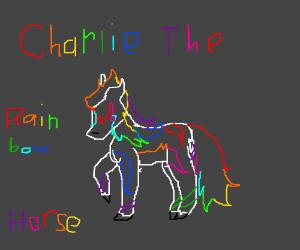 Charlie the rainbow horse