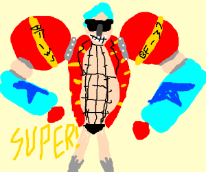 A super robot powered by soda