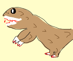 T-rex but with big arms and little legs