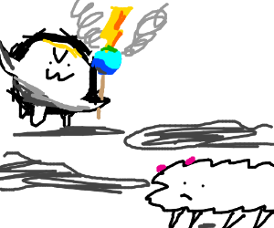 wizard is torturing the innocent sheep
