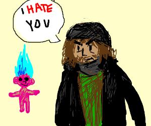 Troll doll hated by hobo