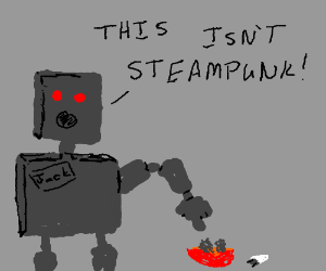 Jack the robot claims this isn't steampunk