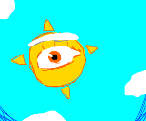 Sun Eye & Cloud Eyebrows