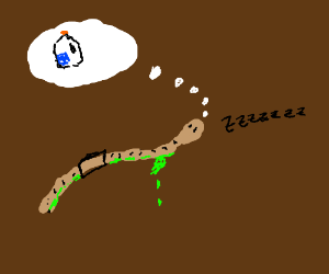 Slimey the worm dreams about milk.