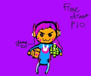 Free draw pio super chibi corner turtle