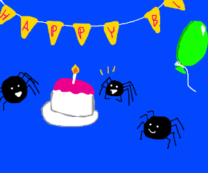 Spider birthday party
