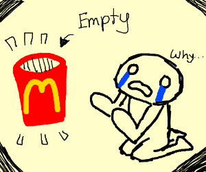 No mcdonalds fries
