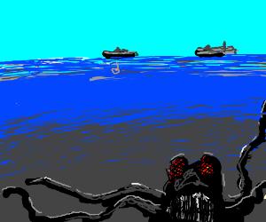 Deep beneath the sea, it waits.