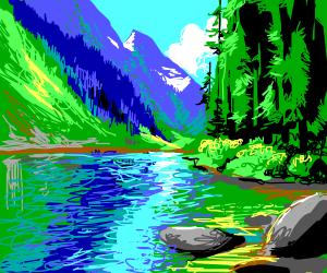 Beautiful lake landscape