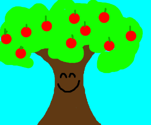 what a happy sentient apple tree