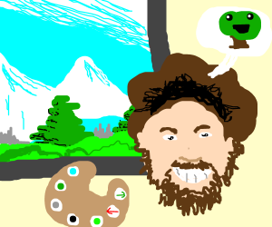 Drawception with Bob Ross's Dank Memes